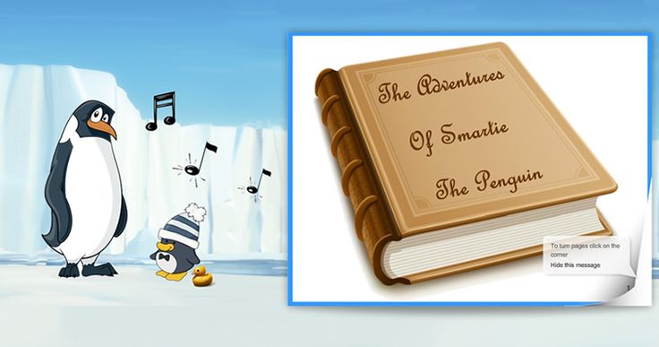 Kidsmart: On line story Smartie the Penguin--Excellent! do follow up activity on computer