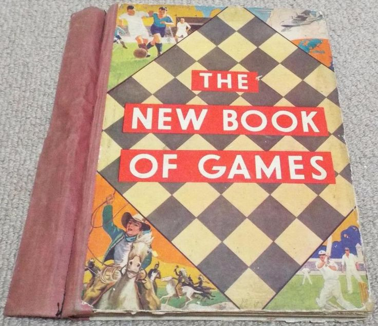 "Vintage 1920's ""The New Book of Games"" With 6 Games Boards & How to Play"