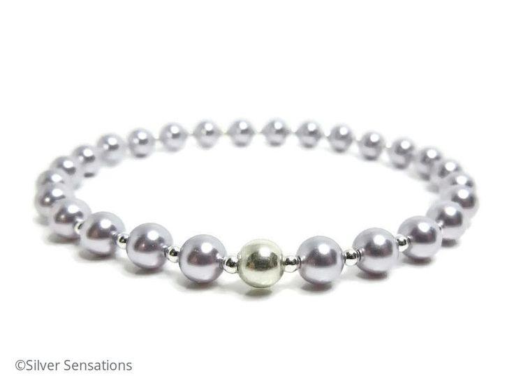 Pastel Lavender Bridesmaids Bracelet With Swarovski Pearls @ProCrafterGuild #craftbiz @eshopsUK #bridal #weddinghour @UkHour https://www.silver-sensations.co.uk/pastel-lavender-purple-bridesmaids-pearl-bracelet-with-sterling-silver-8198-p.asp