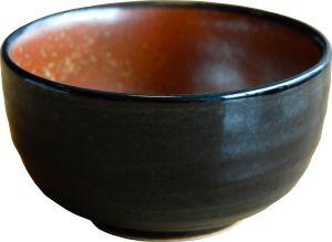 Black red matcha bowl
