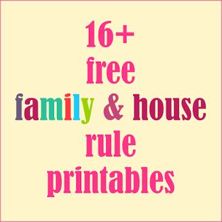 ☞ ☞ 16+ free printable #family posters and family rule ///////  posters / bathroom printables / kitchen printables / table manners / playroom printables