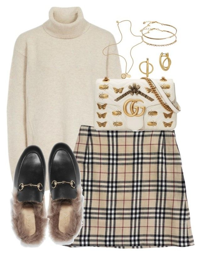 """""""Untitled #5213"""" by theeuropeancloset ❤ liked on Polyvore featuring Burberry, Lucky Brand, Mulberry, Gucci and ASOS"""