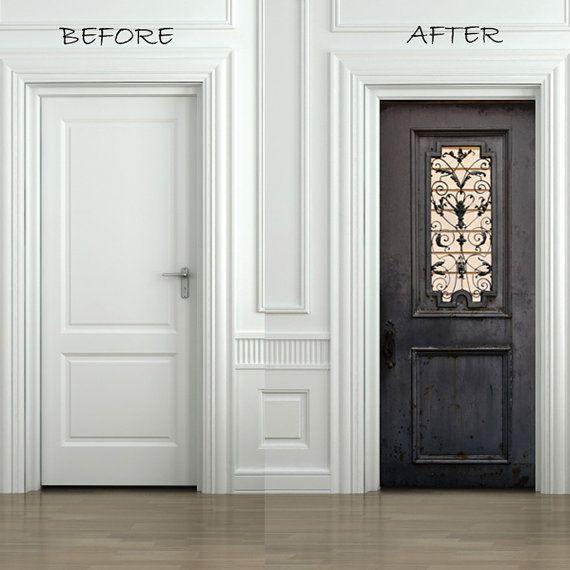 Door Sticker VINTAGE METAL DOOR Self-Adhesive by FromEUwithLove