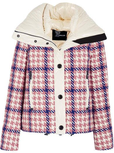 Flaine Embroidered Down Ski Jacket - Pink  houndstooth embroidered cream 7718e7d40