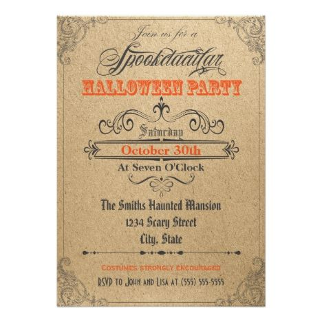 1739 best halloween cards invites and gifts images on pinterest vintage ornaments halloween invitation stopboris Images