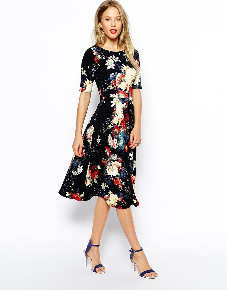 dark floral is so on trend for fall 2014 // modest dress under $100