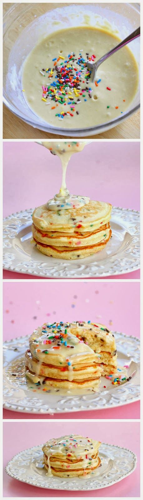 Best of Recipe: Cake Batter Pancakes I use Bisquick or ready made pancake batter...yummmm!