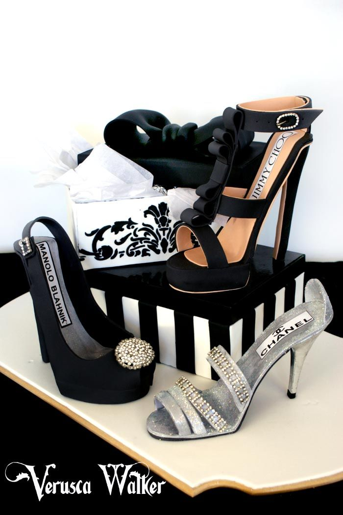 Shoe Cake~ this is a cake, I have to have it.. hope one of my kids sees this and they attempt to get it for me... <3