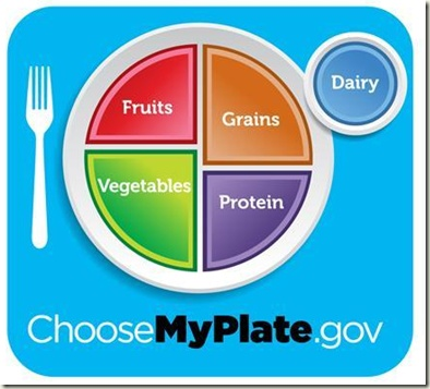 Grains group — Make at least half of your grains whole grains.      Vegetable group — Vary your veggies.      Fruit group — Focus on fruits.      Dairy group — Get your calcium-rich foods.      Protein foods group — Go lean with protein.      The dairy group used to be called the milk group, and protein foods group is the new name for the meat and beans group.    MyPlate's three central messages:        Balancing calories — Enjoy your foods, but eat less. Avoid oversized portions.      Foods ...