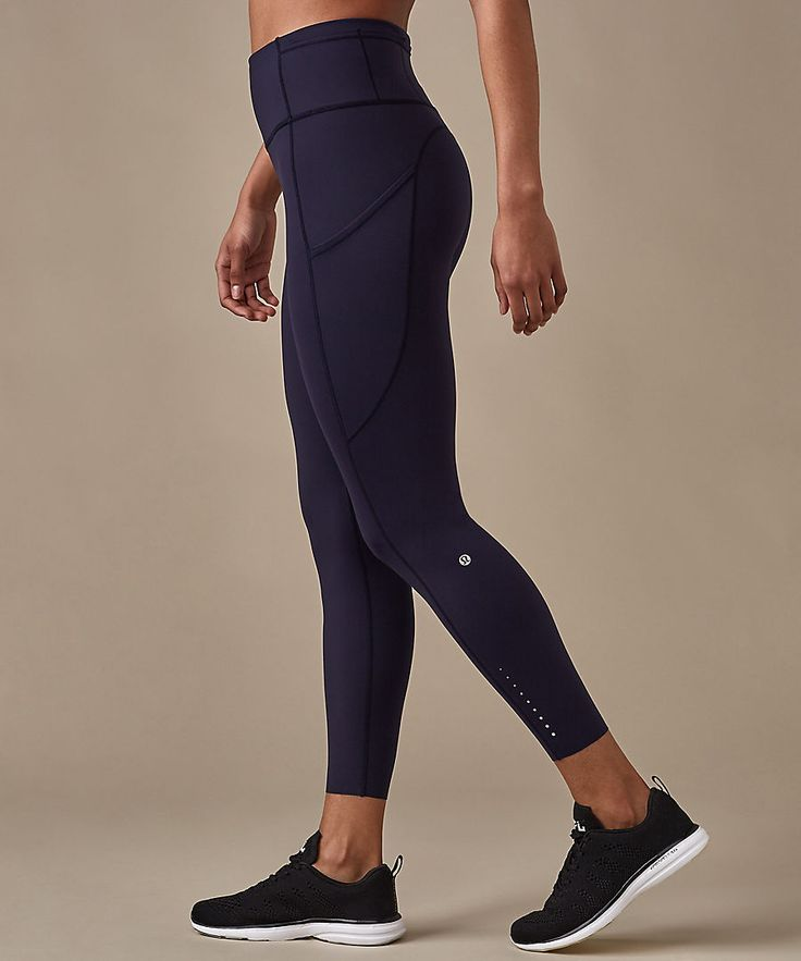 Literally allllll the lulus for my birthday The Colour Edit: Midnight Navy. Fast & Free Tight