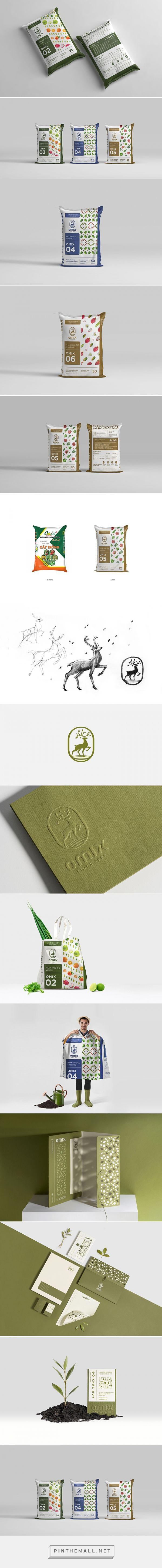 Phan Bon Omix fertilizer by Bratus Agency. Source: Daily Package Design Inspiration. Pin curated by #SFields99 #packaging #design #inspiration #ideas #innovation #creative #product #consumer #bag #color #typography #illustration #pattern #range #fertilizer #rebranding #restyling