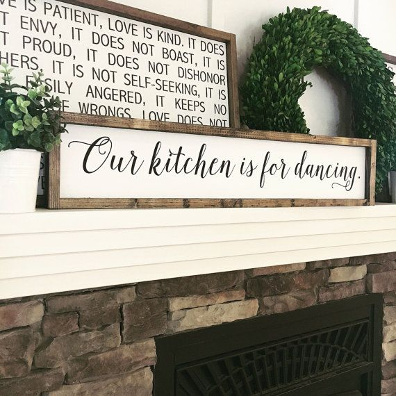 Our Kitchen is for Dancing Kitchen Sign Wood by JamesandAlice