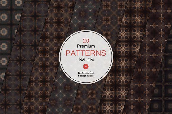 20 Premium Patterns by VectorMedia on @creativemarket