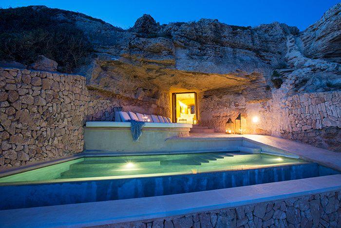 Un hotel troglodyte Majorque : Méditerranée, Majorque, Sentinels, hôtel Cap Rocat.