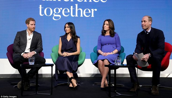 Prince William, Prince Harry, the Duchess of Cambridge and Meghan Markle made their offici...