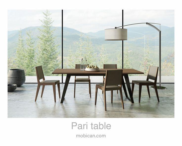 Click here to see Mobican's Pari table  | Cliquez ici pour voir la table Pari de Mobican: http://mobican.com/pari/ #mobican #table #diningroom #madeincanada #contemporary #wood #furniture