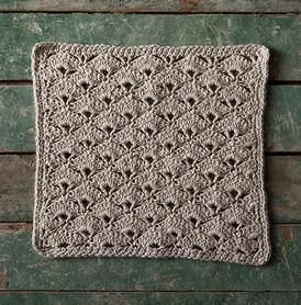 Jazz Age Crochet Washcloth, free pattern by KnitPicks