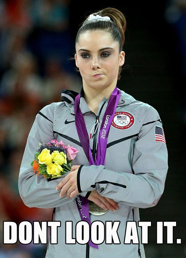 McKayla Maroney, Team USA Mean Girl.----side note: she's the best. Hands down. And she's all of maybe 16? Immaturity is expected. Don't hate her for acting her age.