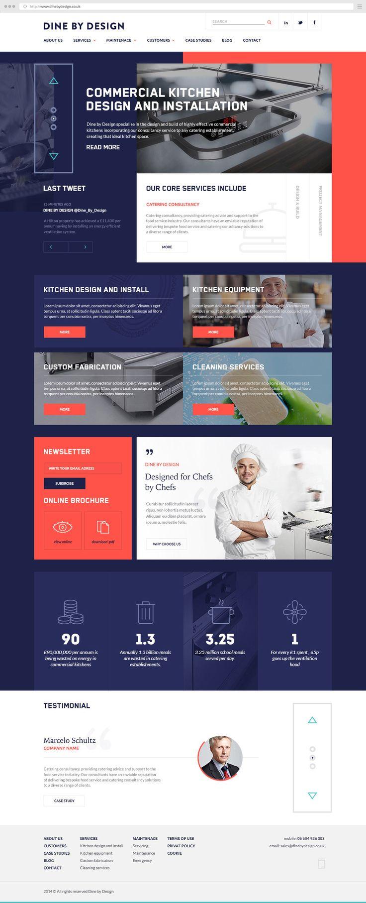 dbd commercial kitchens website on behance