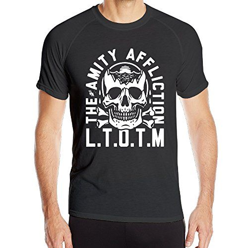 SAMMOI The Amity Affliction Skull Men's Cool Outdoor Sports Speed Drying Clothes M Black >>> Details can be found by clicking on the image.
