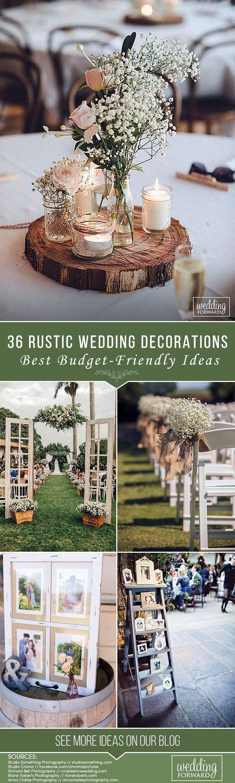 36 Ideen für ein Budget Rustikale Hochzeitsdekorationen 36 Ideen für ein Budget R   – Hochzeit