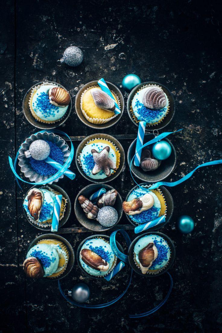 Vanilla Peppermint Cupcakes | Sugar et al