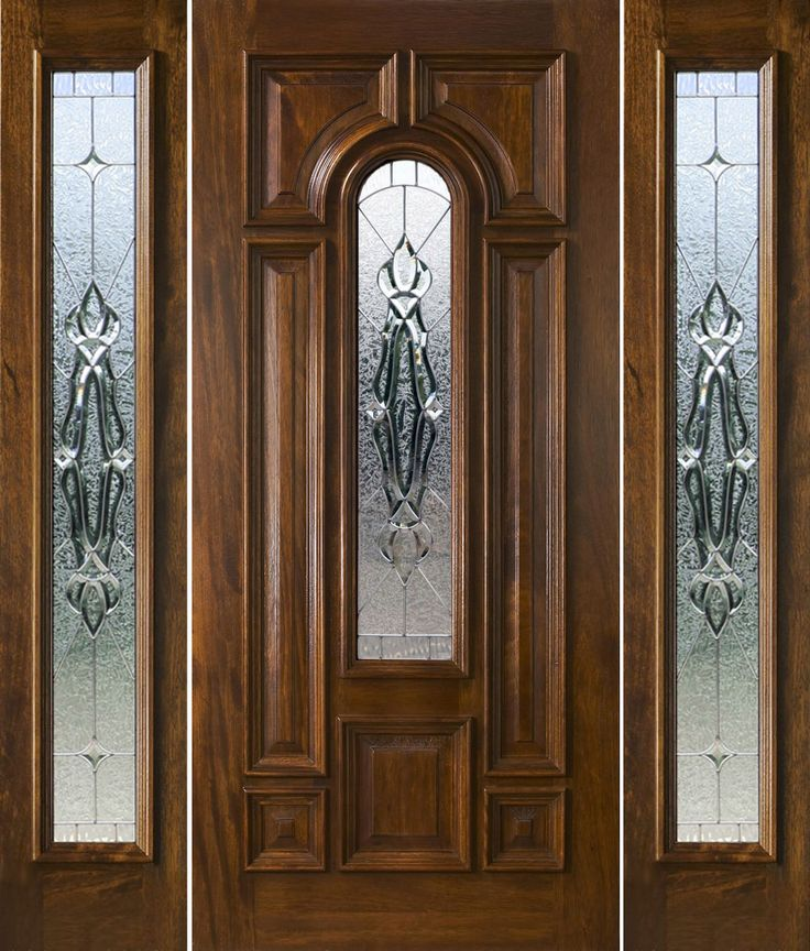 Front door with sidelights and transom saratoga exterior for Exterior side entry doors
