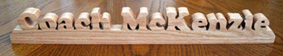 Custom Desk Name Plaque by PawPawsWorkshop on Etsy