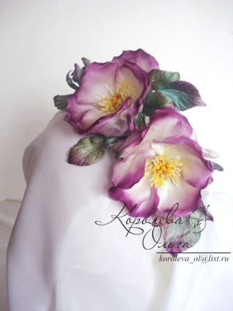 "(3) Gallery.ru / ""Rosa Alpina"" - Цветы из шелка - KorolevaOlga"