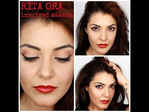 RITA ORA inspired makeup - YouTube
