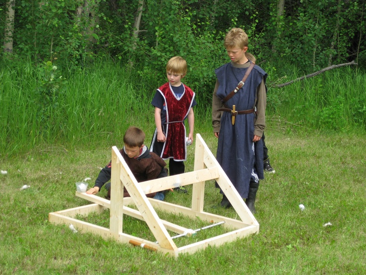 Charming The Backyard Ogre Catapult Part - 5: Fun With The Ogre Catapult. Find The Instructions Here: Http://www