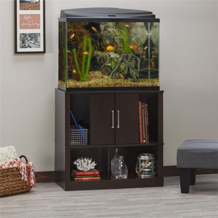 Dorel Home Furnishings Laguna Tide Espresso 29-37 Gallon Aquarium Stand, Brown