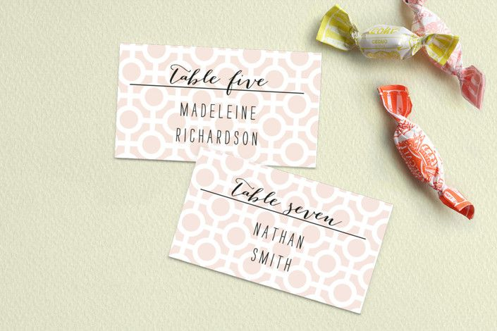 Mod Dots Place Cards by Alethea and Ruth at minted.com