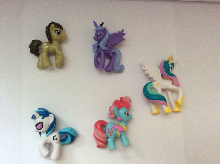 MLP mini figures-- Dr. Hooves; Princess Luna; DJ Pon-3; Mrs. Cup Cake; Princess Celestia