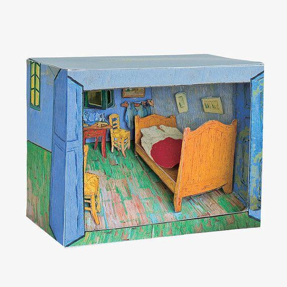 Diorama de papel DIY Vincent van Gogh arte de por NOOKatmosphere