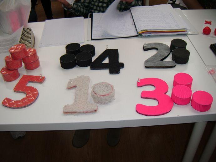 Asociar números y cantidades