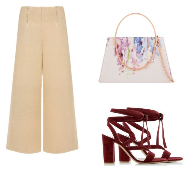 """cullote"" by ivanaputri on Polyvore featuring Gianvito Rossi, C/MEO COLLECTIVE and Ted Baker"