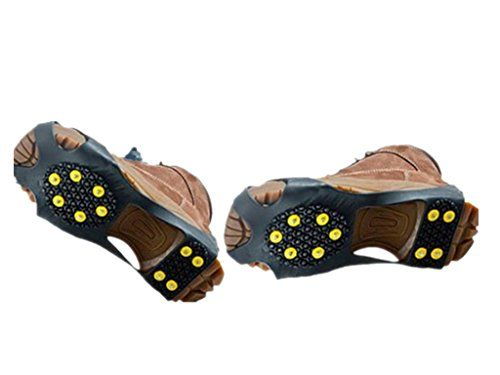 OuterStar Ice  Snow Grips Over ShoeBoot Traction Cleat Rubber Spikes Anti Slip 10Stud Crampons Slipon Stretch Footwear SMLXL *** Click image to review more details.