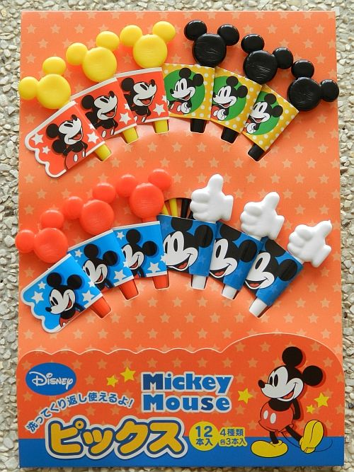 mickey mouse bento picks