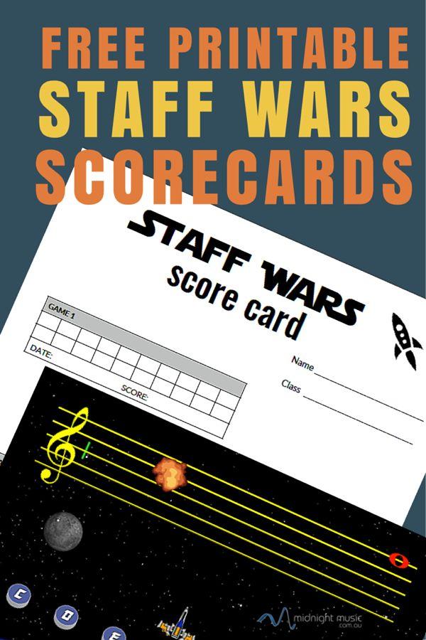 Staff Wars Free Printable Score Cards