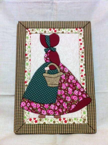 Caderno pequeno pautado mulher com cesta | Ra  Ro Patchwork | 15FF4B - Elo7