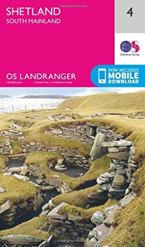 From 3.99:Landranger (4) Shetland  South Mainland (os Landranger Map) | Shopods.com
