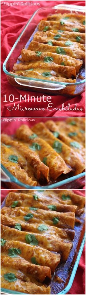 10-Minute Gluten-Free Enchiladas - Flippin' Delicious
