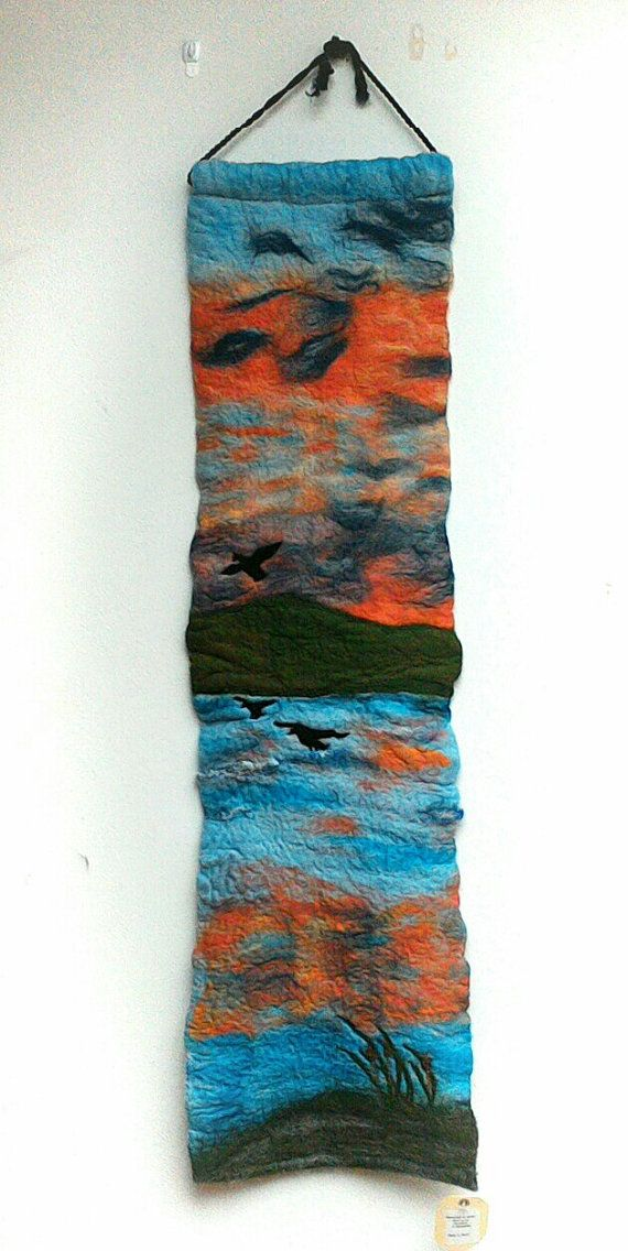 SALE 4ft long Irish scene  felted wall by FeltbyJayneGillan