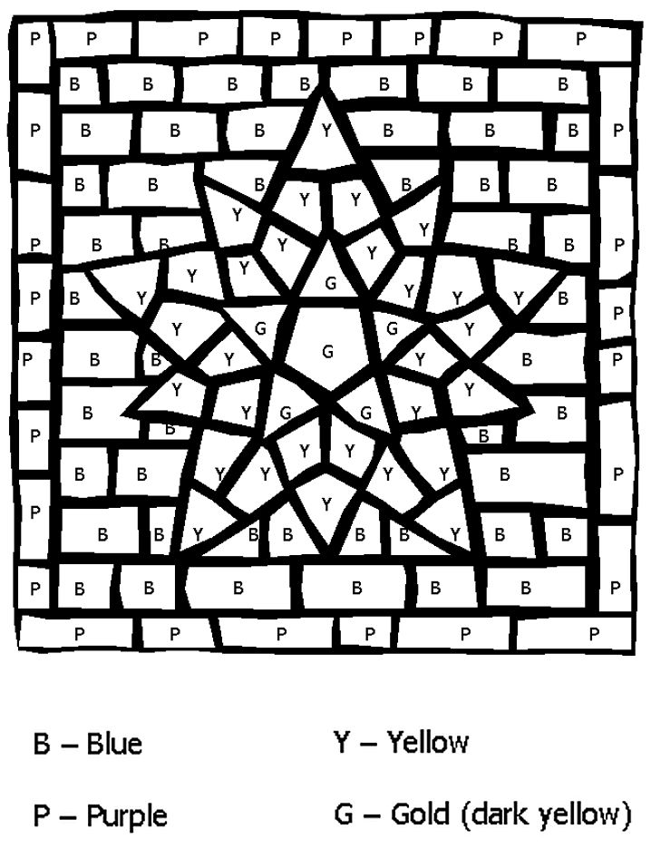 Four Colors For A Big STAR From The Gallery Kids Magical Coloring Pages