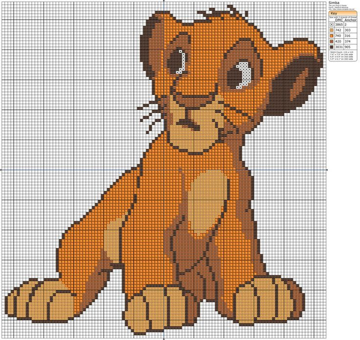 The Lion King - Simba II by Makibird-Stitching.deviantart.com on @deviantART