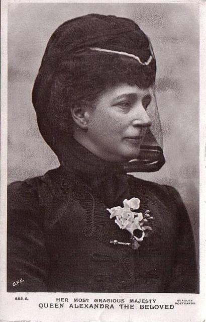"Königin Alexandra von England, Queen of Britain, nee Princess of Denmark. Queen Alexandra Caroline ""Alix"" (Alexandra Caroline Marie Charlotte Louise Julia) (1844-1925) Denmark widow of King Edward VII (Albert Edward) (1841-1910) Prince of Wales, UK."