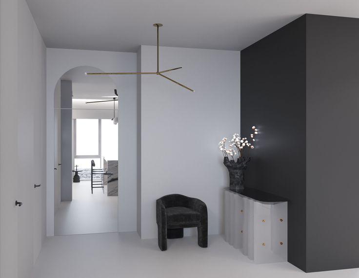 monochrome interior vladimir kagan apparatus