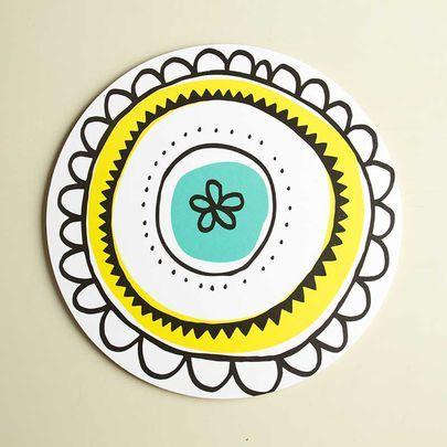 Aura-kakkualusta värikäs, pieni / Aura cake plate 25 cm / Käpynen