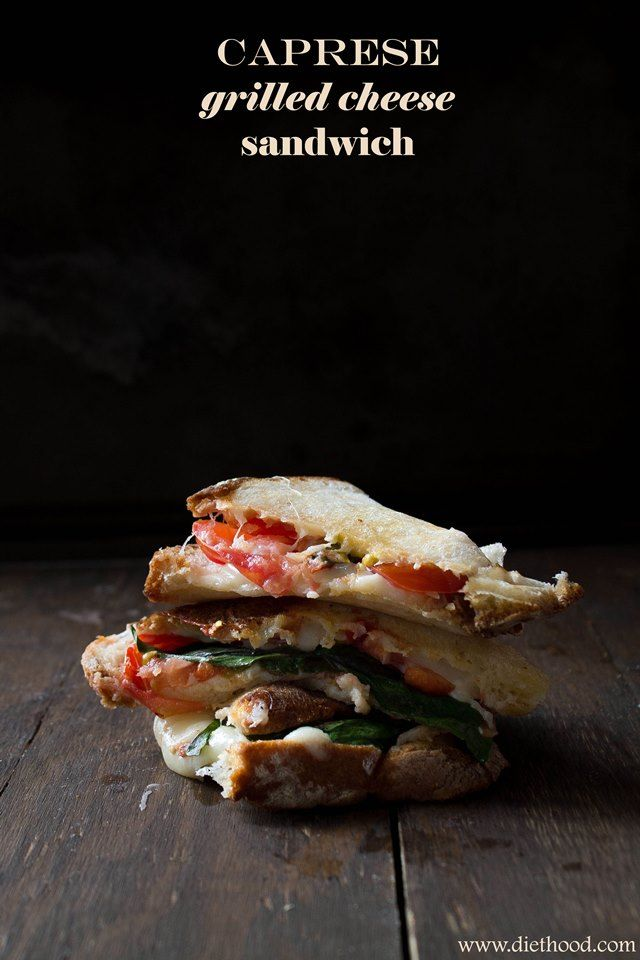 caprese title wp Caprese Grilled Cheese Sandwich